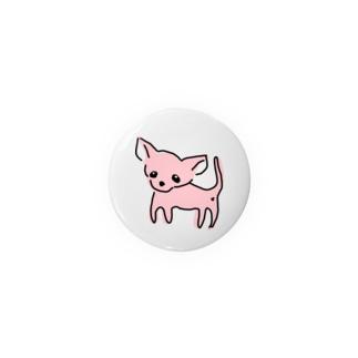 ゆるチワワ(ピンク) Badges