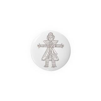 西和賀の厄払い人形 Badges