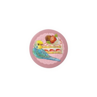 ケーキとイエローフェイスセキセイ Badges