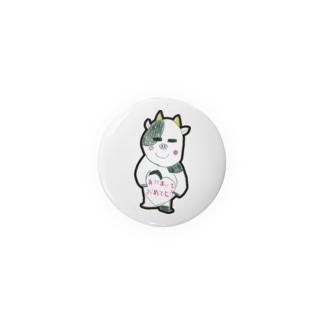 長女牛のイラスト Badges