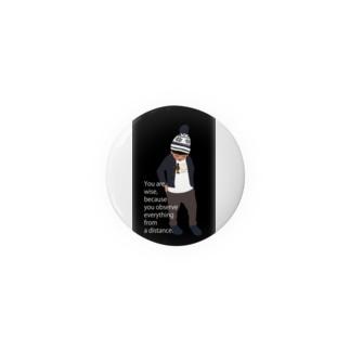 ノルディック帽の少年BK(スマホサイズ) Badges