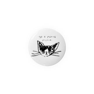 ののやさんの♡ & PEACE (NEKO) Badges
