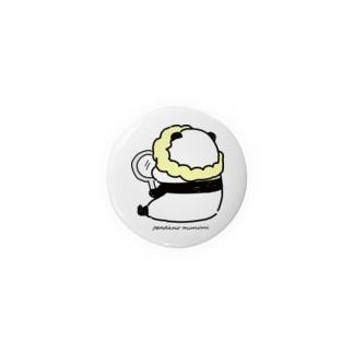 手鏡を見るパンダ Badges
