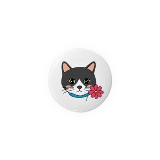 コスモスを付けている猫【しじみ】 Badges