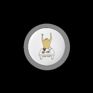 クマ・サピエンスのクマ・サピエンス缶バッジ