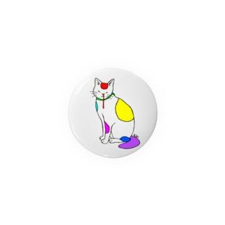 背筋良い猫 Badge