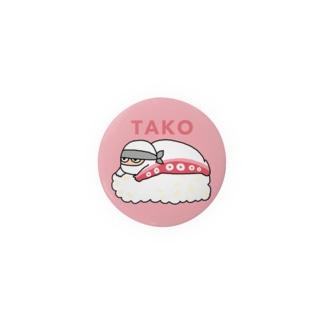 NINJA SUSHI - TAKO Badges