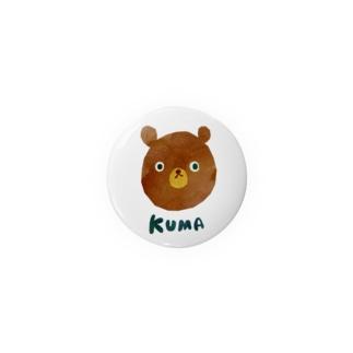 かっこいいKUMA 缶バッジ