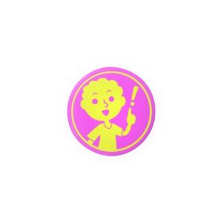 ひらめいた!【丸型ツートンカラー】 Badges