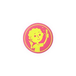 自撮り【丸型ツートンカラー】 Badges