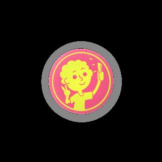 ひじりやノエルの自撮り【丸型ツートンカラー】 Badges