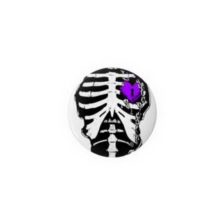 肋骨×南京錠(パープル) Badges