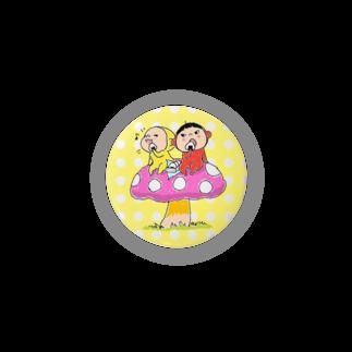 Yukiの黄色いヤツのきのこランチ/サイズは44~がオススメ 缶バッジ