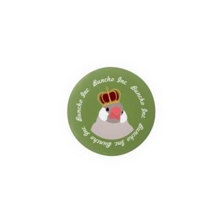 文鳥さん 王冠 缶バッジ