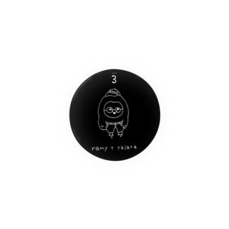 らみ たらった直筆イラスト(黒・44mm) 缶バッジ