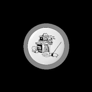 まるとしっぽのデザイン工場のmaru&shippo house  44㎜缶バッジ 缶バッジ