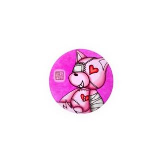 """❀花狐庵❀ """"Heart♡Wolf!!"""" Badges"""