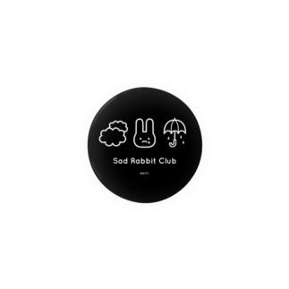 【IENITY】Sad Rabbit Club #Black 缶バッジ