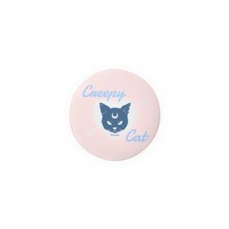 【MOON SIDE】 Creepy Cat #Pink*Blue Badges