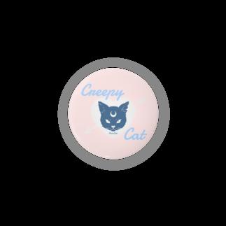 IENITY / MOON SIDEの【MOON SIDE】 Creepy Cat #Pink*Blue缶バッジ