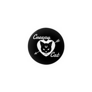 【MOON SIDE】 Creepy Cat #Black Ver.2 缶バッジ