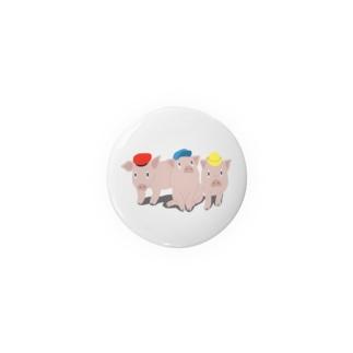 3びきのこぶた Badges