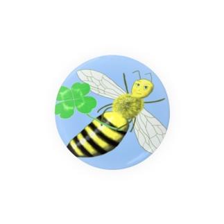 幸運を呼ぶヨツバチ Badges