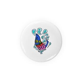 果物ドレスの魚(青色) Badges