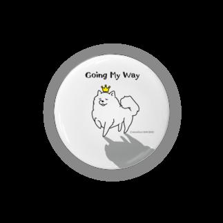 アトリエ・シシのGoing My Way 我が道をゆくワンコ Badges