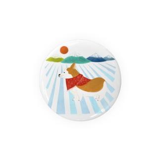 コーギー 日の出 Badges