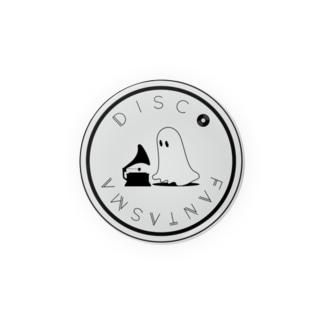 Disco Fantasma Logo - Grey Badges