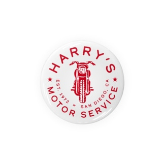 HARRY'S MOTOR SERVICE〈RED〉 Badges