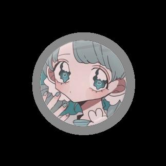 🍒Yuzuriha shop🍒のうさちゃんと青い女の子 Badges