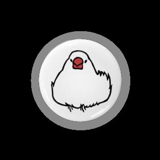 243のおだんご文鳥 白文鳥 Badges