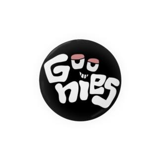 Goonies 丸黒56mm Badges