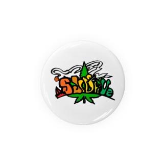 Slidrive レゲエ色缶バッヂ Badges