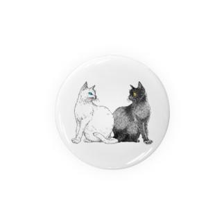 白猫と黒猫 Badges