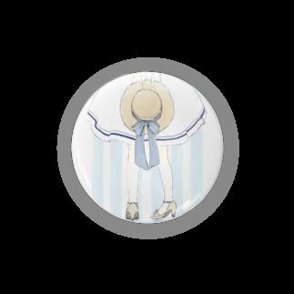 うき**のカンカン帽と女の子 Badges