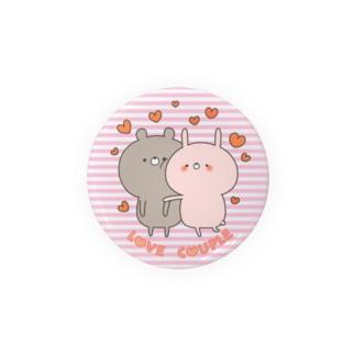 ラブカップルボーダーうさぎ56㎜ Badges