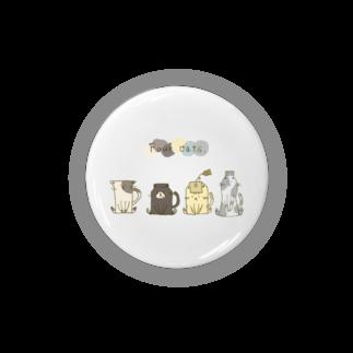 """しろの""""猫""""な雑貨店のfour cats Badges"""