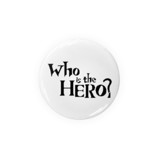 Who is the HERO? ロゴ(黒文字) Badges