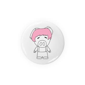 ミニブタの子豚のトン子ちゃん。 Badges