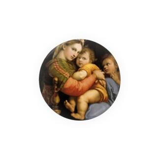 ラファエロ『 小椅子の聖母 』 Badges