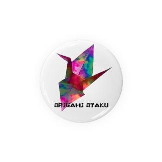 折り鶴×ORIGAMI  OTAKU 黒文字 Badges