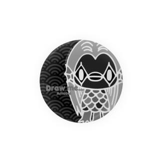 【各5点限定】アマビエさま(nega/mono) Badges
