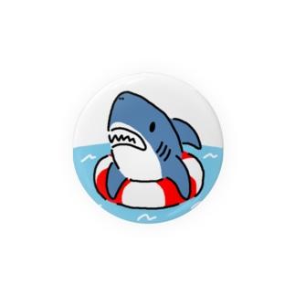 うきわでうかぶサメ Badges