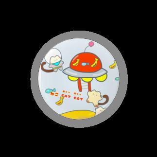 バナバニーShopのねこCAT CAT(キャッ  キャッ ) Badges