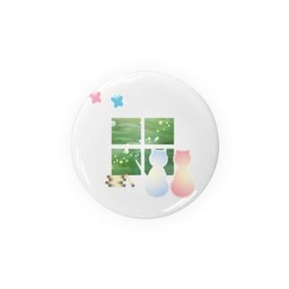 ねこと蝶 Badges