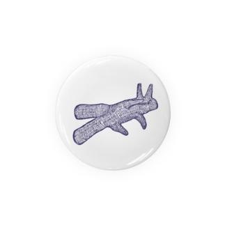 うさぎの影絵 Badge