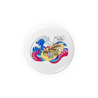 猫カフェラグドールたこ焼きデザイン Badges